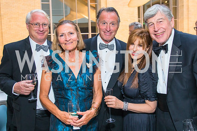 John Haaga, Heather Haaga, Paul Haaga,  Maria Wilhelm, Dennis Keller. Photo by Alfredo Flores. National Museum of Natural History Leadership Circle Member Gala. Smithsonian National Museum of Natural History. June 6, 2019