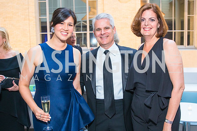 Kira Neal, Brian Reddington, Zully Dorr. Photo by Alfredo Flores. National Museum of Natural History Leadership Circle Member Gala. Smithsonian National Museum of Natural History. June 6, 2019