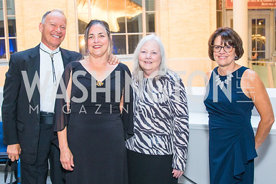 TJ Woosley, Carole Woosley, Becky Westerman, Frances Taylor . Photo by Alfredo Flores. National Museum of Natural History Leadership Circle Member Gala. Smithsonian National Museum of Natural History. June 6, 2019