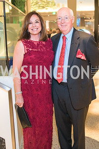 Debra Mayeux, Michael McCormick. Photo by Alfredo Flores. National Museum of Natural History David H. Koch Hall of Fossils - Deep Time Members Preview Gala. Smithsonian National Museum of Natural History. June 6, 2019
