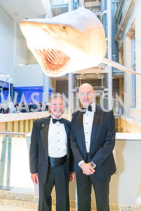 Ed Warren, John Davis. Photo by Alfredo Flores. National Museum of Natural History Leadership Circle Member Gala. Smithsonian National Museum of Natural History. June 6, 2019