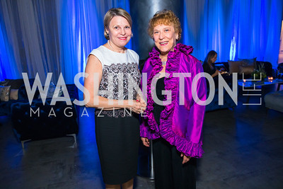 Marie Carr, Faye Laing. Photo by Alfredo Flores. National Museum of Natural History Leadership Circle Member Gala. Smithsonian National Museum of Natural History. June 6, 2019