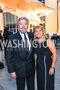 Scott Hommer, Deborah Hommer. Photo by Alfredo Flores. National Museum of Natural History Leadership Circle Member Gala. Smithsonian National Museum of Natural History. June 6, 2019
