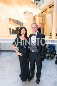 Sarah Malka, Dieter Fenkart-Froeschl. Photo by Alfredo Flores. National Museum of Natural History Leadership Circle Member Gala. Smithsonian National Museum of Natural History. June 6, 2019