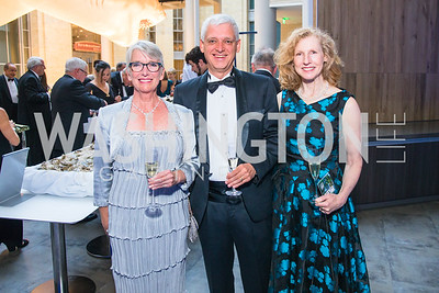 Jackie Dixon, Roland Sauermann, Debra Sauermann. Photo by Alfredo Flores. National Museum of Natural History Leadership Circle Member Gala. Smithsonian National Museum of Natural History. June 6, 2019