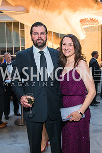 Jamie Moore, Catherine Haggett. Photo by Alfredo Flores. National Museum of Natural History Leadership Circle Member Gala. Smithsonian National Museum of Natural History. June 6, 2019