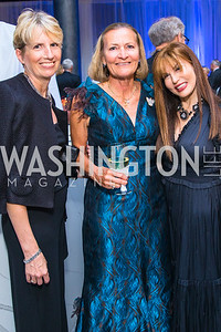 Susan Moeller, Heather Haaga, Maria Wilhelm. Photo by Alfredo Flores. National Museum of Natural History Leadership Circle Member Gala. Smithsonian National Museum of Natural History. June 6, 2019