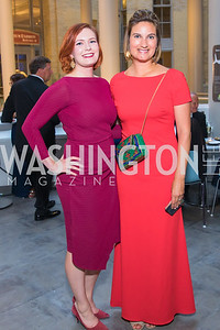 Jennie Eaton, Kristen Hunter. Photo by Alfredo Flores. National Museum of Natural History Leadership Circle Member Gala. Smithsonian National Museum of Natural History. June 6, 2019