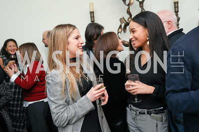 "Jane Caldwell, Amber Hayes. Photo by Tony Powell. Neal Katyal ""Impeach"" Book Party. Glover Reiter Residence. November 23, 2019"