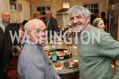 "Gen. Michael Hayden, Michael Isikoff. Photo by Tony Powell. Neal Katyal ""Impeach"" Book Party. Glover Reiter Residence. November 23, 2019"
