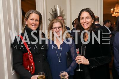 "Reg Stettinius, Cricket Stettinius, Nicole Elkon. Photo by Tony Powell. Neal Katyal ""Impeach"" Book Party. Glover Reiter Residence. November 23, 2019"