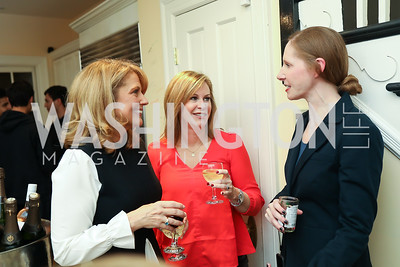 "Rebecca Cooper, Stephanie Cutter, Juleanna Glover. Photo by Tony Powell. Neal Katyal ""Impeach"" Book Party. Glover Reiter Residence. November 23, 2019"