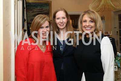 "Stephanie Cutter, Juleanna Glover, Rebecca Cooper. Photo by Tony Powell. Neal Katyal ""Impeach"" Book Party. Glover Reiter Residence. November 23, 2019"