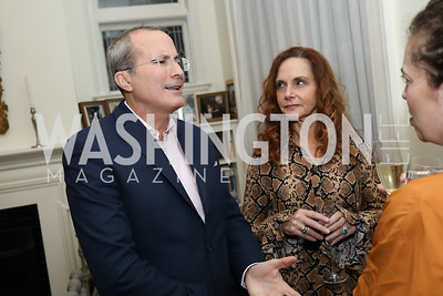"David and Suzanne Chavern. Photo by Tony Powell. Neal Katyal ""Impeach"" Book Party. Glover Reiter Residence. November 23, 2019"