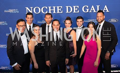 Felix Sanchez, Alyssa Fritz, Julian Castro, and other NHFA honorees. Photo by Yasmin Holman. Noche de Gala. Mayflower Hotel. 09.18.19