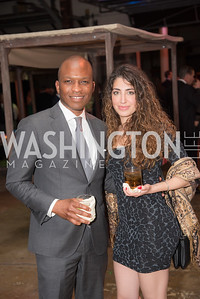 Jeffrey Odum, Isabel Hernandez, The Phillips Collection, Annual Gala Afterparty, Contemporaries Bash, Union Market Dock 5. May 10, 2019, Photo by Ben Droz.