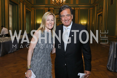 Eileen Shields West, Gov. Bill Richardson. Photo by Tony Powell. RI 40th Anniversary Dinner. Mellon Auditorium. April 30, 2019