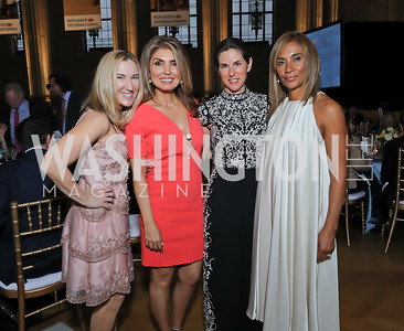 Meg Clerc, Yasmine Pahlavi, Veronica Valencia, Marisol La Madrid. Photo by Tony Powell. RI 40th Anniversary Dinner. Mellon Auditorium. April 30, 2019