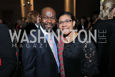 Honoree Wilmot Collins and Maddie Collins. Photo by Tony Powell. RI 40th Anniversary Dinner. Mellon Auditorium. April 30, 2019