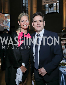 Kristen Olson, Matt Dillon. Photo by Tony Powell. RI 40th Anniversary Dinner. Mellon Auditorium. April 30, 2019