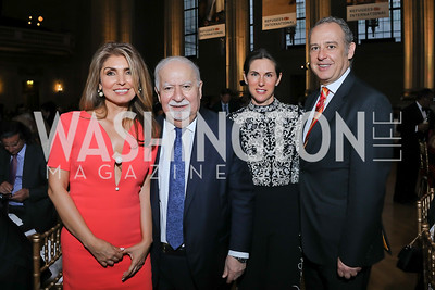 Vartan Gregorian, Yasmine Pahlavi, Veronica Valencia, Amb. Arturo Sarukhan. Photo by Tony Powell. RI 40th Anniversary Dinner. Mellon Auditorium. April 30, 2019