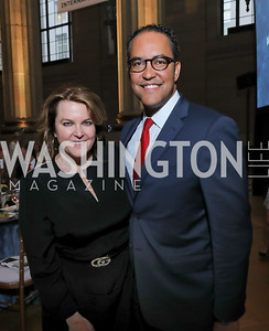 Rachel Pearson, Rep. Will Hurd. Photo by Tony Powell. RI 40th Anniversary Dinner. Mellon Auditorium. April 30, 2019