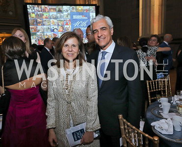 Isabel Fezas Vital and Portugal Amb. Domingos Fezas Vital. Photo by Tony Powell. RI 40th Anniversary Dinner. Mellon Auditorium. April 30, 2019