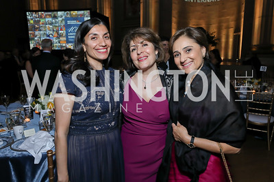 Shamila Chaudhary, Laili Nasr, Darya Nasr. Photo by Tony Powell. RI 40th Anniversary Dinner. Mellon Auditorium. April 30, 2019