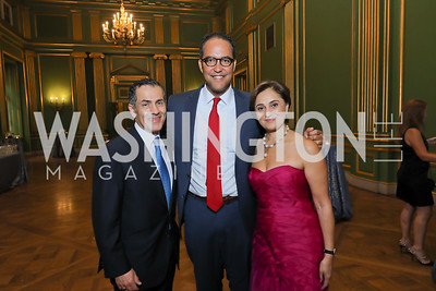 Vali Nasr, Rep. Will Hurd, Darya Nasr. Photo by Tony Powell. RI 40th Anniversary Dinner. Mellon Auditorium. April 30, 2019