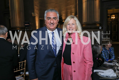 Reza Pahlavi, Susan Blumenthal. Photo by Tony Powell. RI 40th Anniversary Dinner. Mellon Auditorium. April 30, 2019