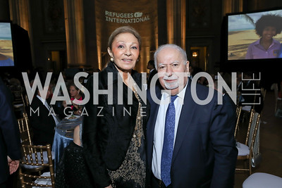 Empress Farah Pahlavi. Vartan Gregorian. Photo by Tony Powell. RI 40th Anniversary Dinner. Mellon Auditorium. April 30, 2019