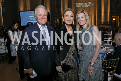 Robin West, Empress Farah Pahlavi, Eileen Shields West. Photo by Tony Powell. RI 40th Anniversary Dinner. Mellon Auditorium. April 30, 2019