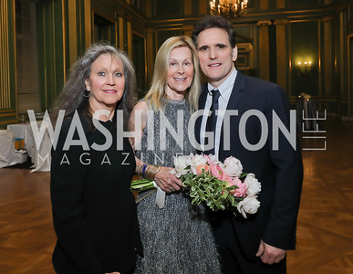 Elizabeth Galvin, Eileen Shields West, Matt Dillon. Photo by Tony Powell. RI 40th Anniversary Dinner. Mellon Auditorium. April 30, 2019