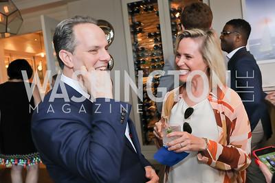 Jeremy Bash, Megan Murphy. Photo by Tony Powell. Viacom Rocketman Screening VIP Reception. Fiola Mare & AMC Georgetown. May 30, 2019