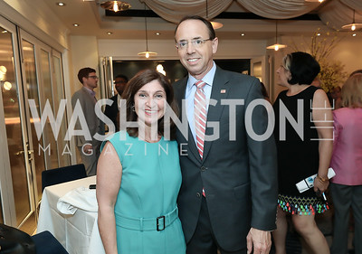 Lisa Barsoomian and Rod Rosenstein. Photo by Tony Powell. Viacom Rocketman Screening VIP Reception. Fiola Mare & AMC Georgetown. May 30, 2019