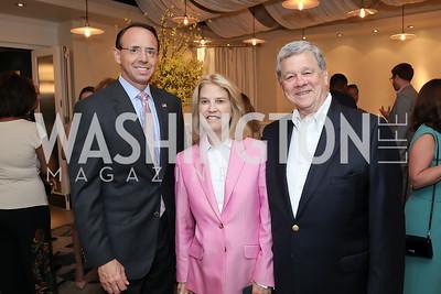 Rod Rosenstein, Greta Van Susteren, John Coale. Photo by Tony Powell. Viacom Rocketman Screening VIP Reception. Fiola Mare & AMC Georgetown. May 30, 2019