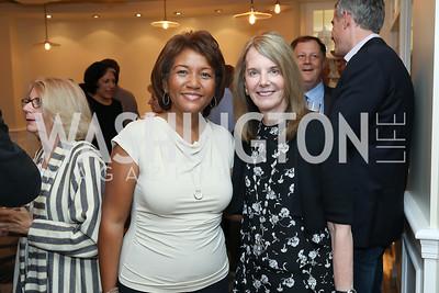 DeDe Lea, Carol Melton. Photo by Tony Powell. Viacom Rocketman Screening VIP Reception. Fiola Mare & AMC Georgetown. May 30, 2019