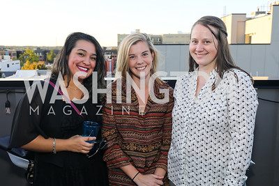 """Rachel Queirolo, Maria Langholz, Claire Wernstedt-Lynch. Photo by Tony Powell. Ryan Grim """"We've Got People"""" Book Party. September 19, 2019"""