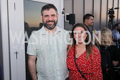 "Manny Herrmann, Sara Kenigsberg. Photo by Tony Powell. Ryan Grim ""We've Got People"" Book Party. September 19, 2019"