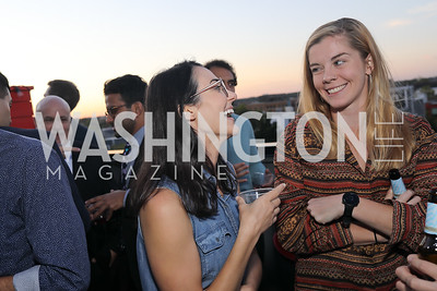 "Lauren Gambino, Maria Langholz. Photo by Tony Powell. Ryan Grim ""We've Got People"" Book Party. September 19, 2019"