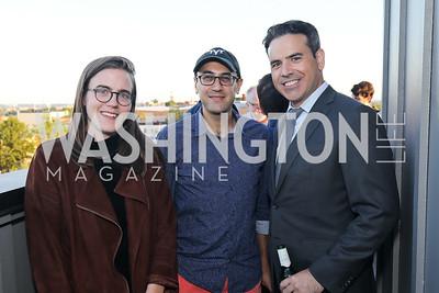 "Nausicaa Renee, Adam Green, Brian Fallon. Photo by Tony Powell. Ryan Grim ""We've Got People"" Book Party. September 19, 2019"