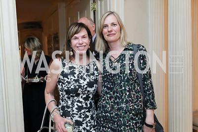 "Carole Feld, Ulla Ronberg. Photo by Tony Powell. ""Survival Math"" Book Party. Haft Residence. May 28, 2019"