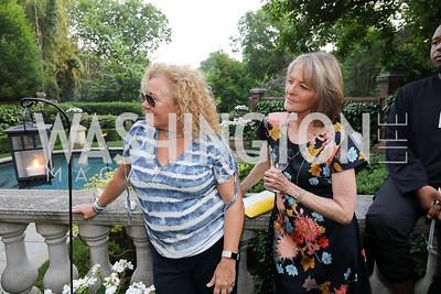 "Tamara Buchwald, Rita Braver. Photo by Tony Powell. ""Survival Math"" Book Party. Haft Residence. May 28, 2019"