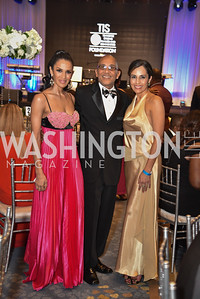 Kenya Pierce, Kyle Hutchinson and Kellen Felix Dunning, TIS Foundation, 25th Anniversary Gala, Marriott Marquis, June 6, 2019, photo by Ben Droz.