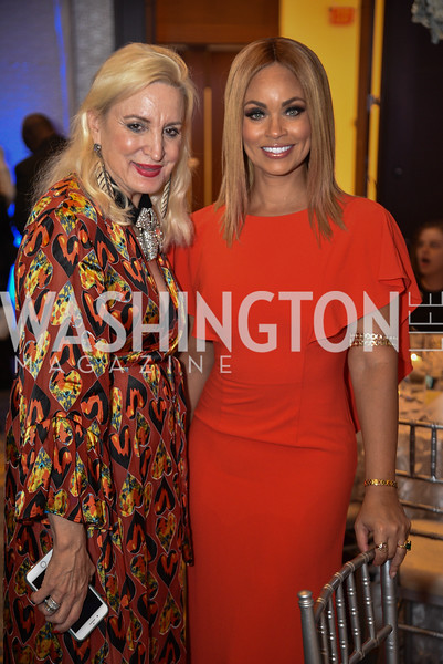 Christine Warnke, Gizelle Bryant, TIS Foundation, 25th Anniversary Gala, Marriott Marquis, June 6, 2019, photo by Ben Droz.