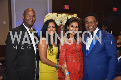 Michael Brown, Jessica Herrera Brown, and Emmanuel Irono, TIS Foundation, 25th Anniversary Gala, Marriott Marquis, June 6, 2019, photo by Ben Droz.