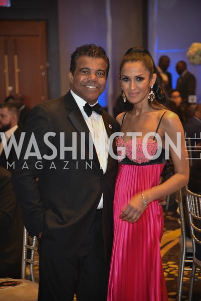 Jerry Pierce and Kenya Pierce, TIS Foundation, 25th Anniversary Gala, Marriott Marquis, June 6, 2019, photo by Ben Droz.