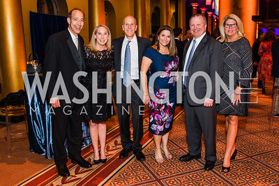 Jonathan Goldberg, Victoria Goldberg, Tom DiIaconi, Krista DiIaconi , Doug Nappi, Gwen Nappi, Photo by Alfredo Flores. The Lab School of Washington's 35th Awards Gala. National Building Museum. November 14, 2019 .dngu2