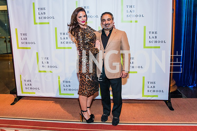 Sarah Bassam, Robert Bassam, Photo by Alfredo Flores. The Lab School of Washington's 35th Awards Gala. National Building Museum. November 14, 2019 .dng