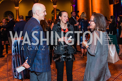John Hurvitz, Erica Hurvitz, Linda Rahal,  Photo by Alfredo Flores. The Lab School of Washington's 35th Awards Gala. National Building Museum. November 14, 2019
